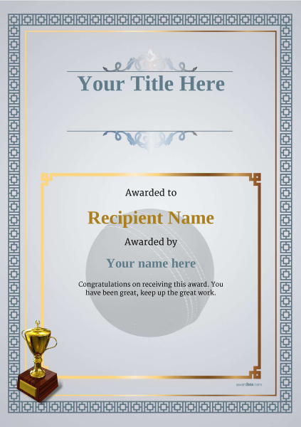 certificate-template-cricket-classic-5dt2g Image