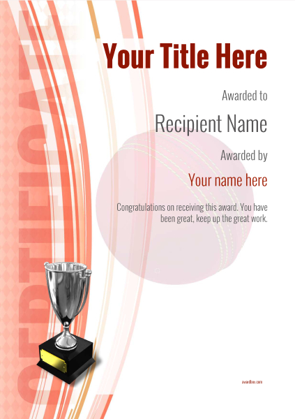 certificate-template-cricket-modern-1rt5s Image