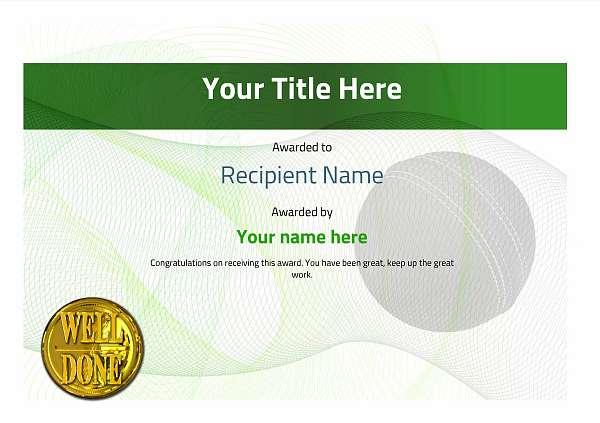 certificate-template-cricket-modern-3gwnn Image
