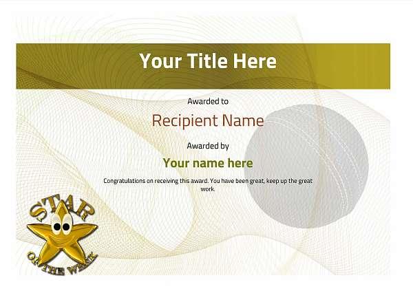certificate-template-cricket-modern-3ysnn Image