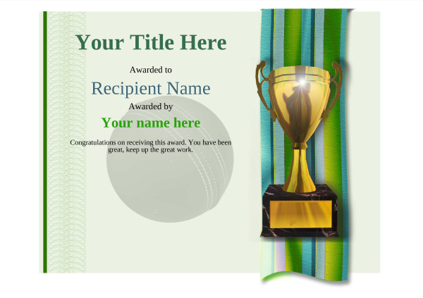 certificate-template-cricket-modern-4gt1g Image