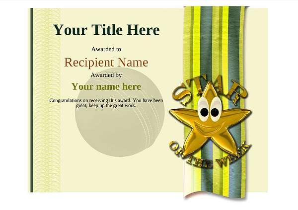 certificate-template-cricket-modern-4ysnn Image
