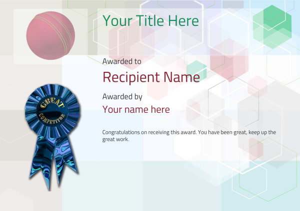 certificate-template-cricket-modern-5dcrg Image