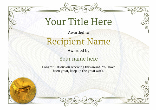 certificate-template-dressage-classic-2ddmg Image