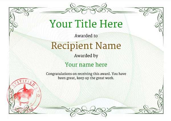 certificate-template-dressage-classic-2gdsr Image