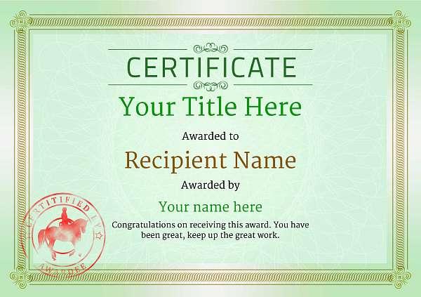 certificate-template-dressage-classic-4gdsr Image