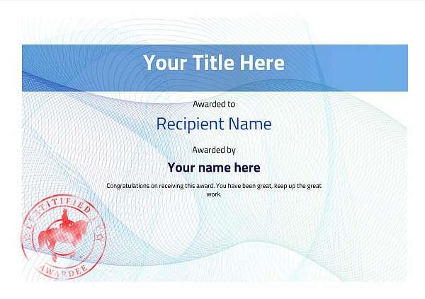 certificate-template-dressage-modern-3bdsr Image