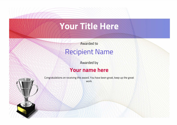 certificate-template-dressage-modern-3dt4s Image