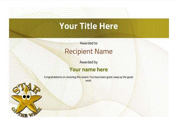 certificate-template-dressage-modern-3ysnn Image