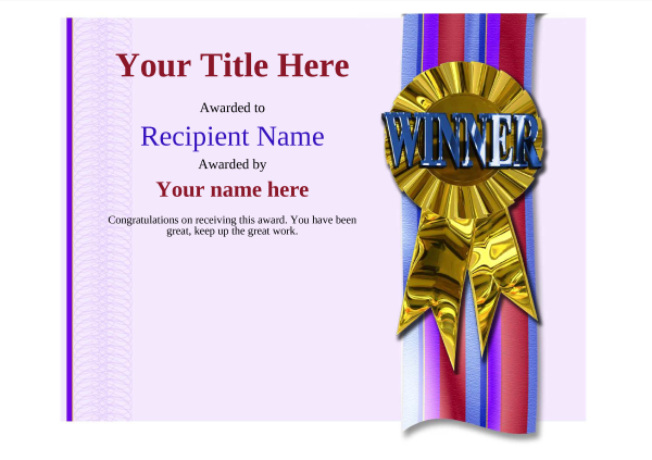 certificate-template-dressage-modern-4dwrg Image