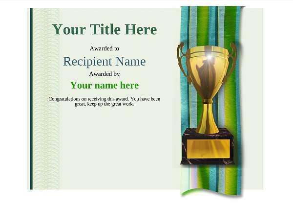certificate-template-dressage-modern-4gt1g Image