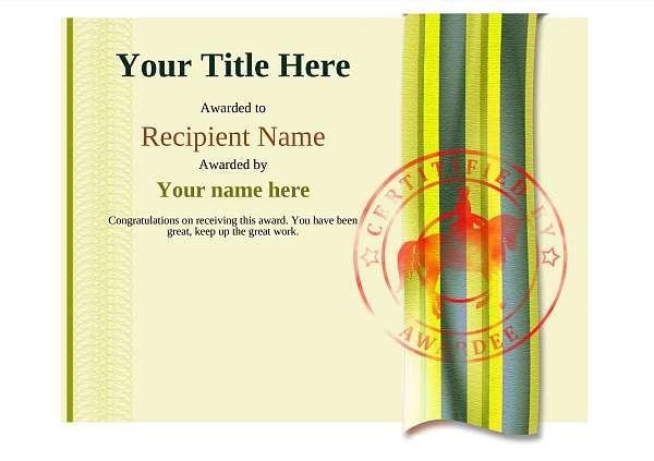 certificate-template-dressage-modern-4ydsr Image