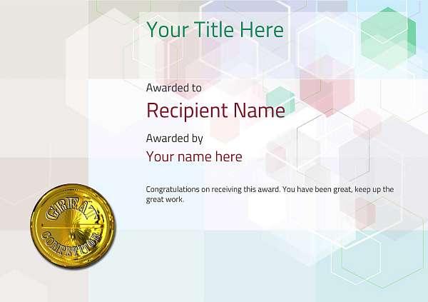 certificate-template-dressage-modern-5dcmg Image