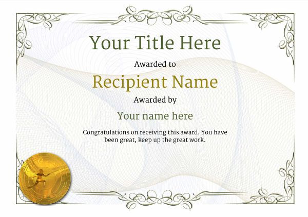 certificate-template-fencing-classic-2dfmg Image