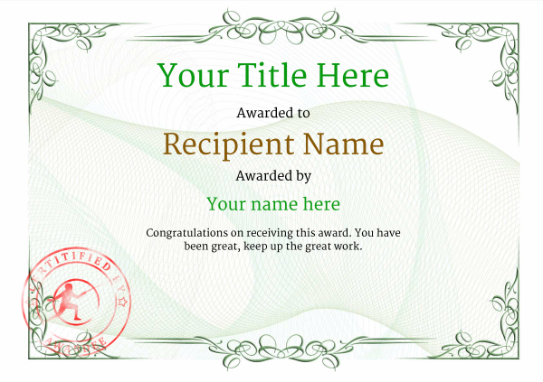 certificate-template-fencing-classic-2gfsr Image