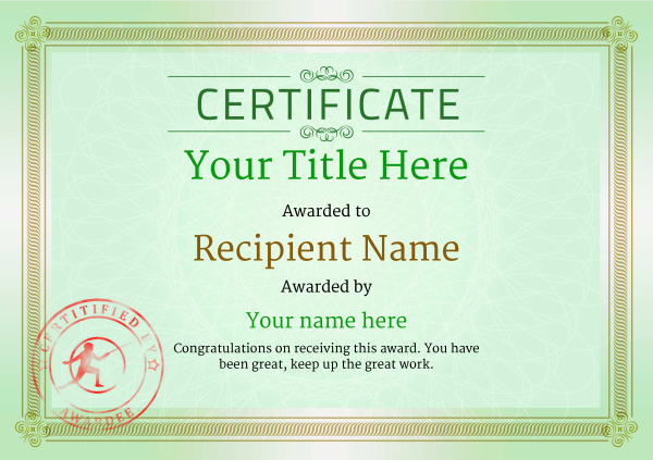 certificate-template-fencing-classic-4gfsr Image