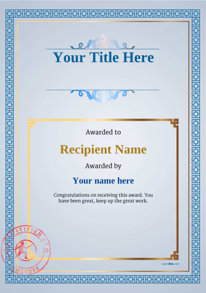 certificate-template-fencing-classic-5bfsr Image