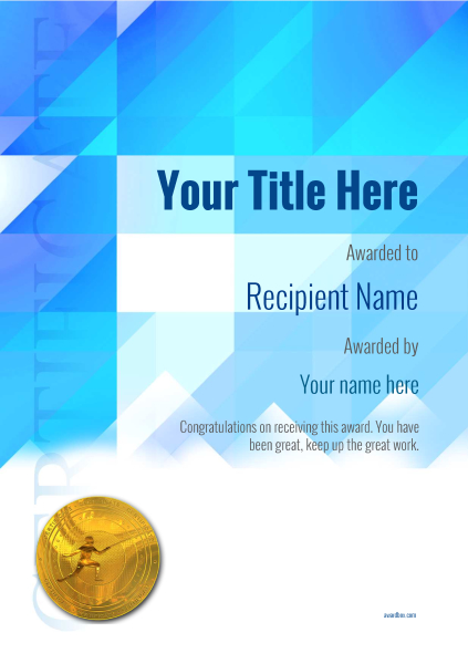 certificate-template-fencing-modern-2bfmg Image