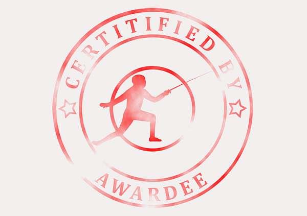 certificate-template-fencing-modern-3-grey-bfsr Image
