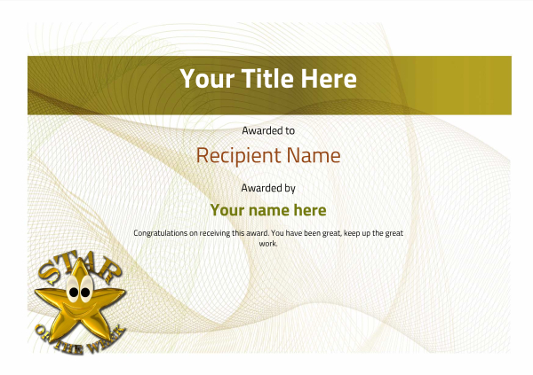 certificate-template-fencing-modern-3ysnn Image