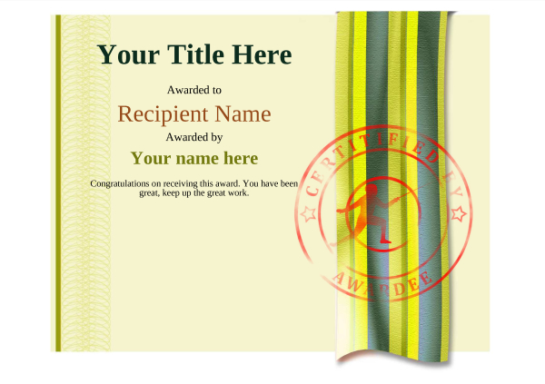 certificate-template-fencing-modern-4yfsr Image