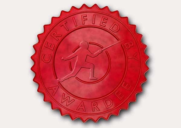 certificate-template-fencing-modern-5-grey-dfsr Image