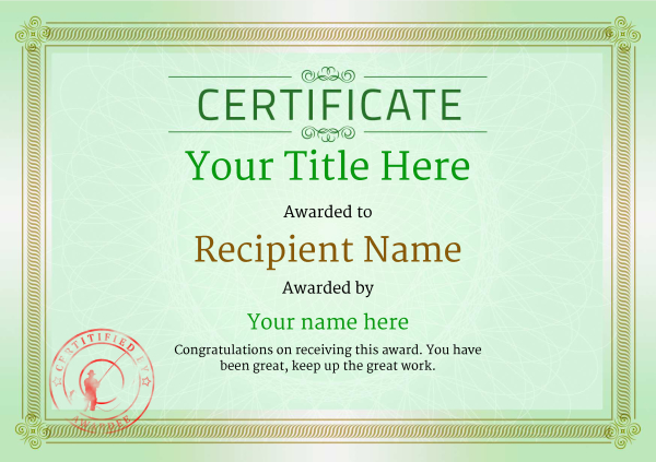 certificate-template-fishing-classic-4gfsr Image