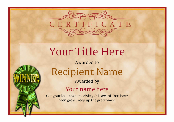 certificate-template-fitness-classic-1dwrg Image