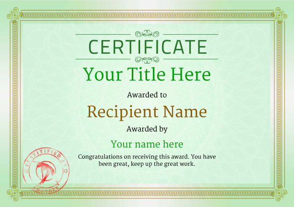 certificate-template-fitness-classic-4gfsr Image