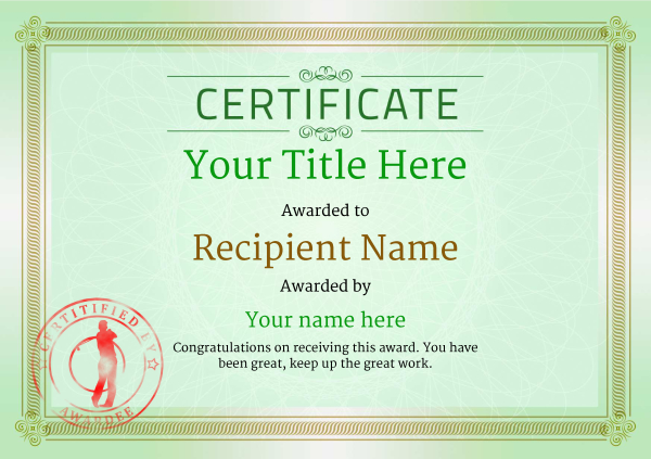 Golf Certificates Templates Leoncapers