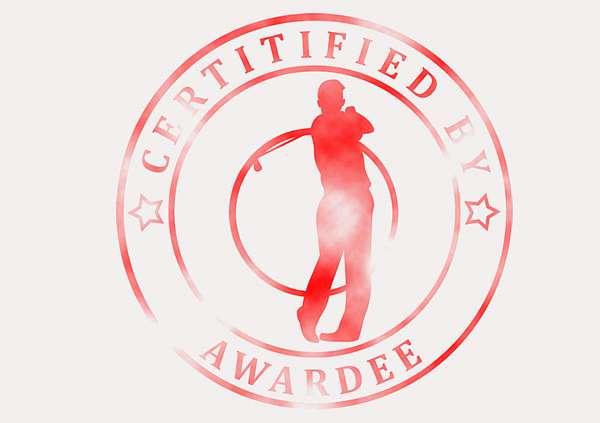 certificate-template-golf-modern-3-grey-bgsr Image