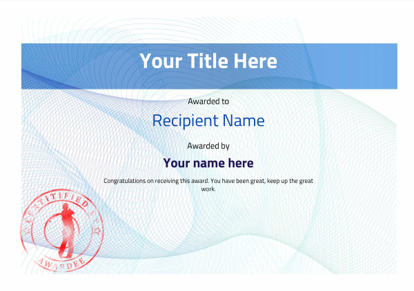 certificate-template-golf-modern-3bgsr Image