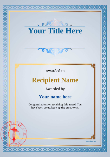 certificate-template-gymnastic-rings-classic-5bgsr Image