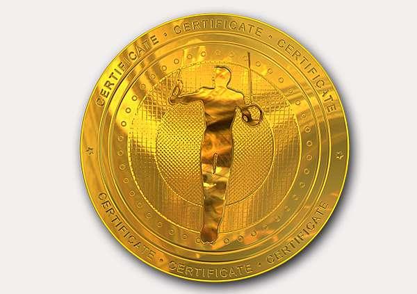 certificate-template-gymnastic-rings-modern-1-grey-ggmg Image