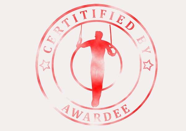 certificate-template-gymnastic-rings-modern-3-grey-bgsr Image