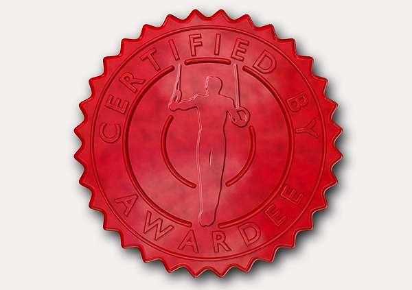 certificate-template-gymnastic-rings-modern-3-grey-ggsr Image