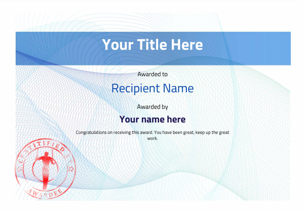 certificate-template-gymnastic-rings-modern-3bgsr Image
