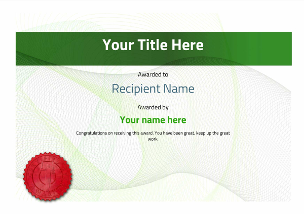 certificate-template-gymnastic-rings-modern-3ggsr Image