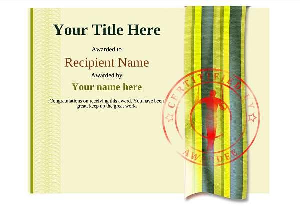 certificate-template-gymnastic-rings-modern-4ygsr Image