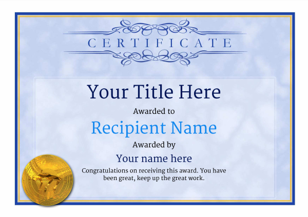 certificate-template-high-jump-classic-1bhmg Image