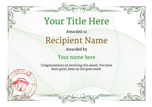 certificate-template-high-jump-classic-2ghsr Image