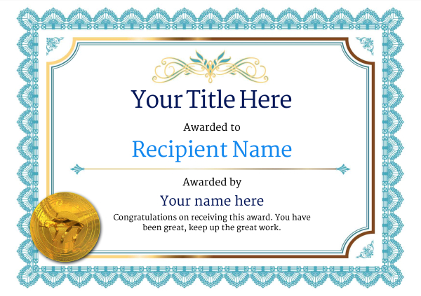 certificate-template-high-jump-classic-3bhmg Image