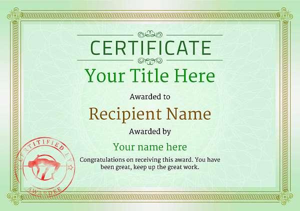 certificate-template-high-jump-classic-4ghsr Image