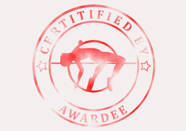 certificate-template-high-jump-classic-5-grey-bhsr Image
