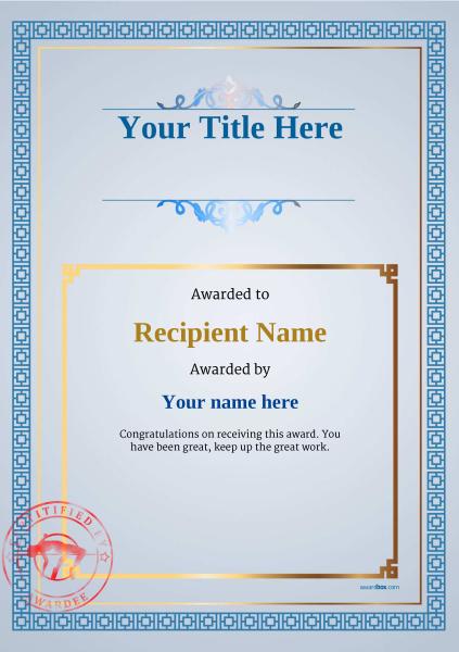 certificate-template-high-jump-classic-5bhsr Image