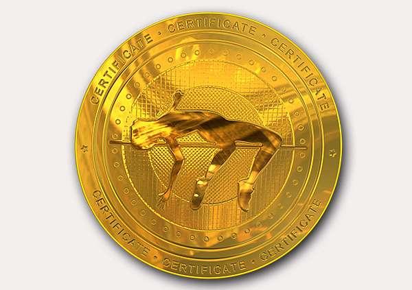 certificate-template-high-jump-modern-2-grey-bhmg Image