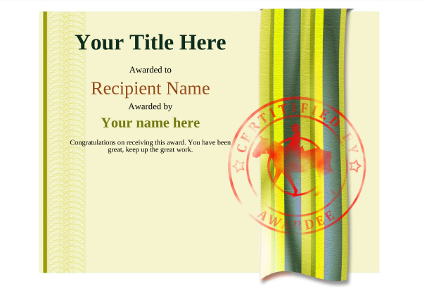 certificate-template-horse-riding-modern-4yhsr Image