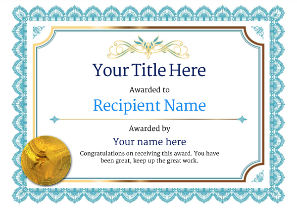 Hockey Certificate Templates | Free Ice Hockey Certificate Templates Add Printable Badges Medals