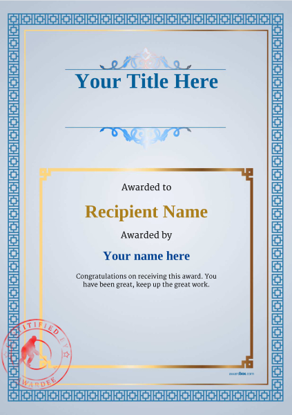 certificate-template-ice-hockey-classic-5bisr Image