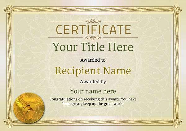 certificate-template-javelin-classic-4djmg Image
